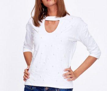 bluzki z perełkami